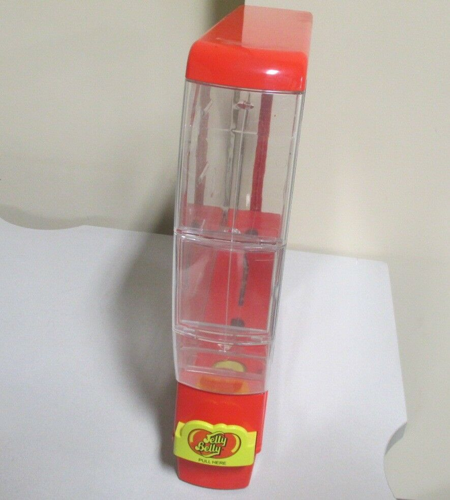 Jelly Belly Commercial Store Candy Display Red & Yellow Pull Dispenser Only