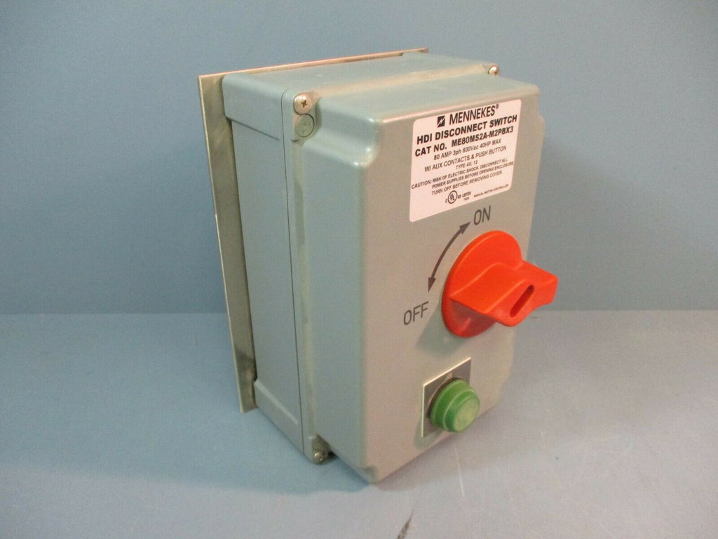 Mennekes HDI Disconnect Switch ME80MS2A-M2PBX3 80 Amp 3ph 600Vac 40Hp NEW