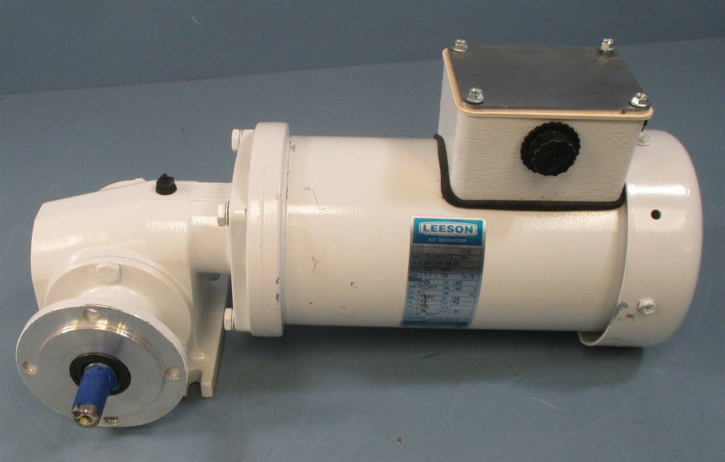 Leeson CM38T17FZ18A AC Gear Motor 20:1 Ratio Gear Reducer 1/4 HP Motor 3 Ph New