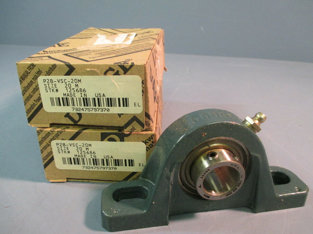 Dodge Pillow Block Bearing P2B-VSC-20M 125686 Lot of two