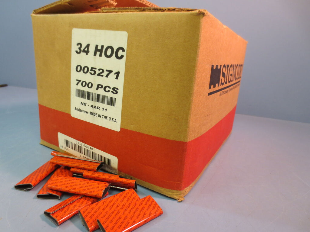 "NIB SIGNODE 5ZV48 Strapping Seal 7/8"" 2-7/32"" 700pcs"