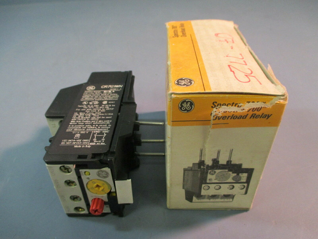 GE Spectra 700 Overload Relay CR7G1WN 10-16 A Series A