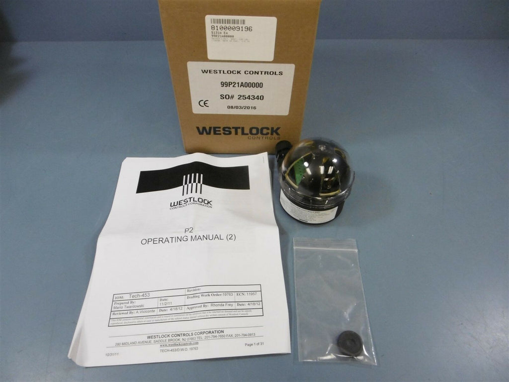 New Westlock Controls 99P2 Diaphragm Valve 99P21A00000 Limit Switch 120VAC 1/2""