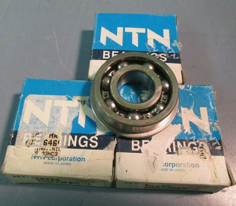 NTN Single Row Ball Bearing Lot of Three 6203NRC3