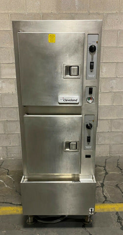 Cleveland 24CDP10 Commercial Convection Steamer, 2 Compartments