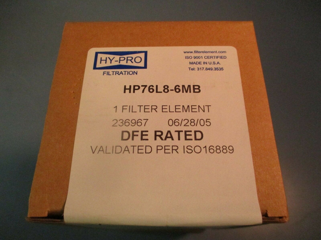 HY-PRO Filter Element HP76L8-6MB 6 Micro FACTORY SEALED