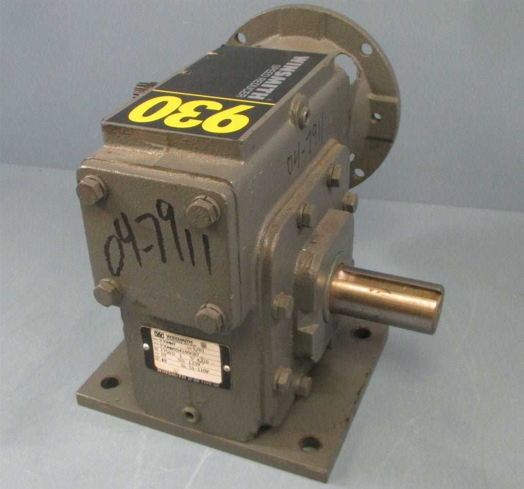 Winsmith 930MWT S4100CB7 Gear Reducer 10:1 Ratio, 4.10 HP, 1750 RPM Used