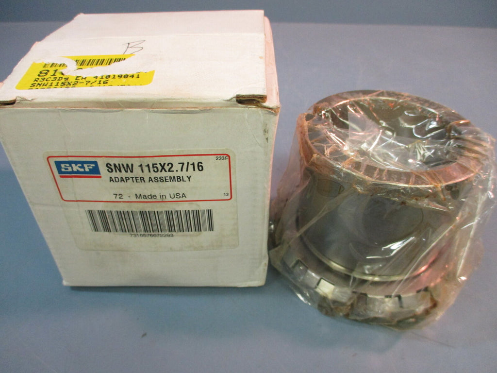 SKF Adapter Assembly SNW 1 15x2.7/16 Bearing Adapter Assembly New