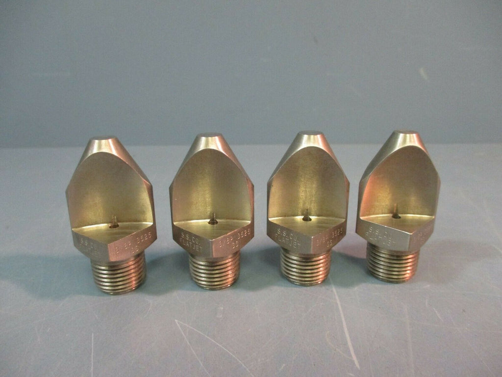SPRAYING SYSTEMS CO Spray Nozzle Flat Spray 35 Degree 3/8P-SS3525 LOT OF FOUR