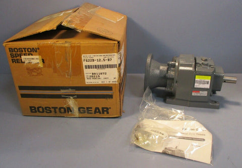 Boston Gear F622B-12.5-B7 Helical In Line Gear Speed Reducer 12.5:1, 2.87 HP In