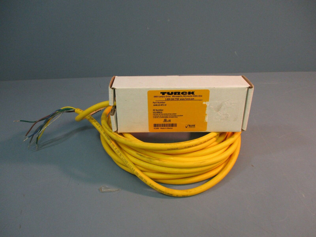 Turck Junction Box 4MB12Z-4P2-10 w/ Cable FACTORY SEALED