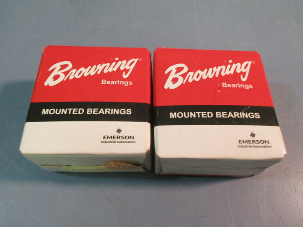 "Browning Ball Bearing Insert 1"" Bore, Setscrew Locking SLS-116 Lot of Two"