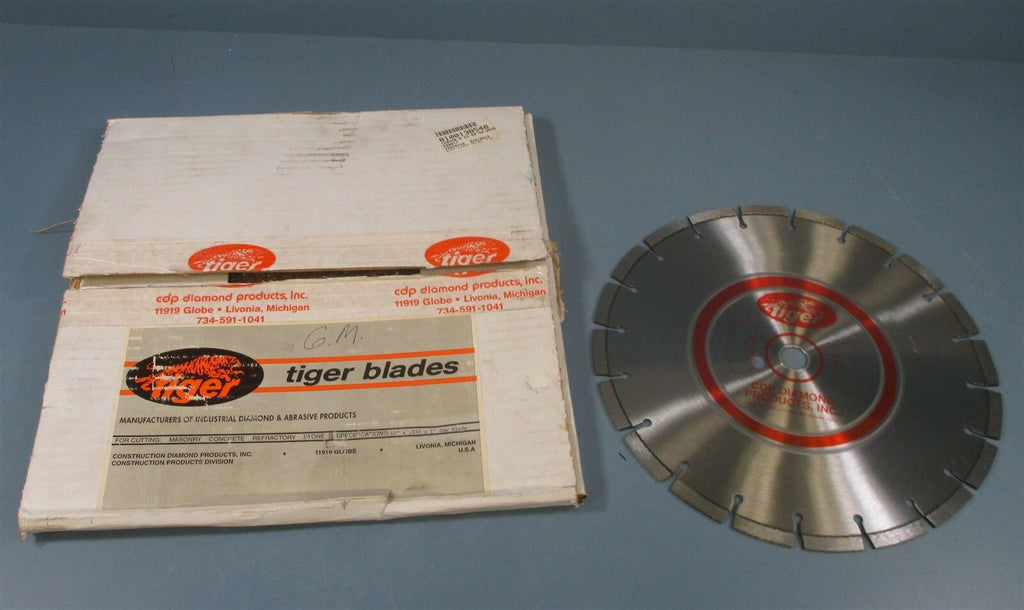 "CDP Diamond Products Tiger Blade 12"" x 0.110 x 1"" Saw Blade Masonry Stone New"