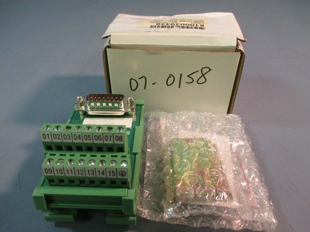 ALLEN BRADLEY PRINTED CIRCUIT BOARD BREAK OUT 15 PIN 2090-UXBB-D15 SER. A