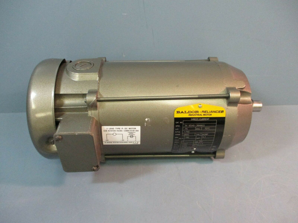 Baldor Electric Motor 34-6549-3946G3 H.P. .75 RPM 1750 Type 3428P NEW