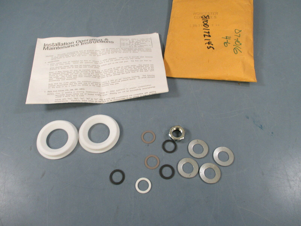 Worcester Controls 1-1/2 TRK44TR1 Ball Valve Repair Kit - New