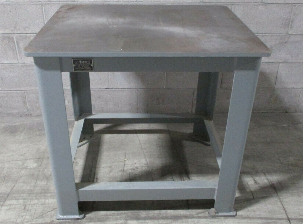 "American Grinding Brute Machine Bases 3/4"" 36 x 30"" Steel Top Welding Table Base"