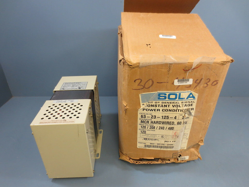 1 New Sola 63-23-125-4 Constant Voltage Power Conditioner 120/208/240/480