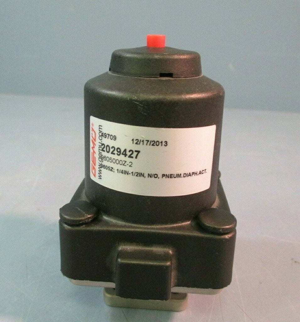 GEMU ACTUATOR, PNEUMATIC, & DIAPHRAGM VALVE 3/8 IN NORM OPEN 2029427