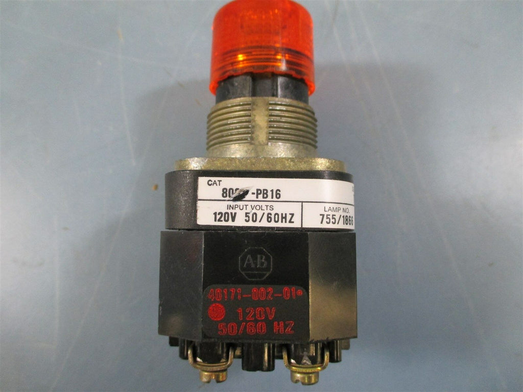Allen Bradley 800T-PB16 Ser. T Amber Illuminated Push Button - New