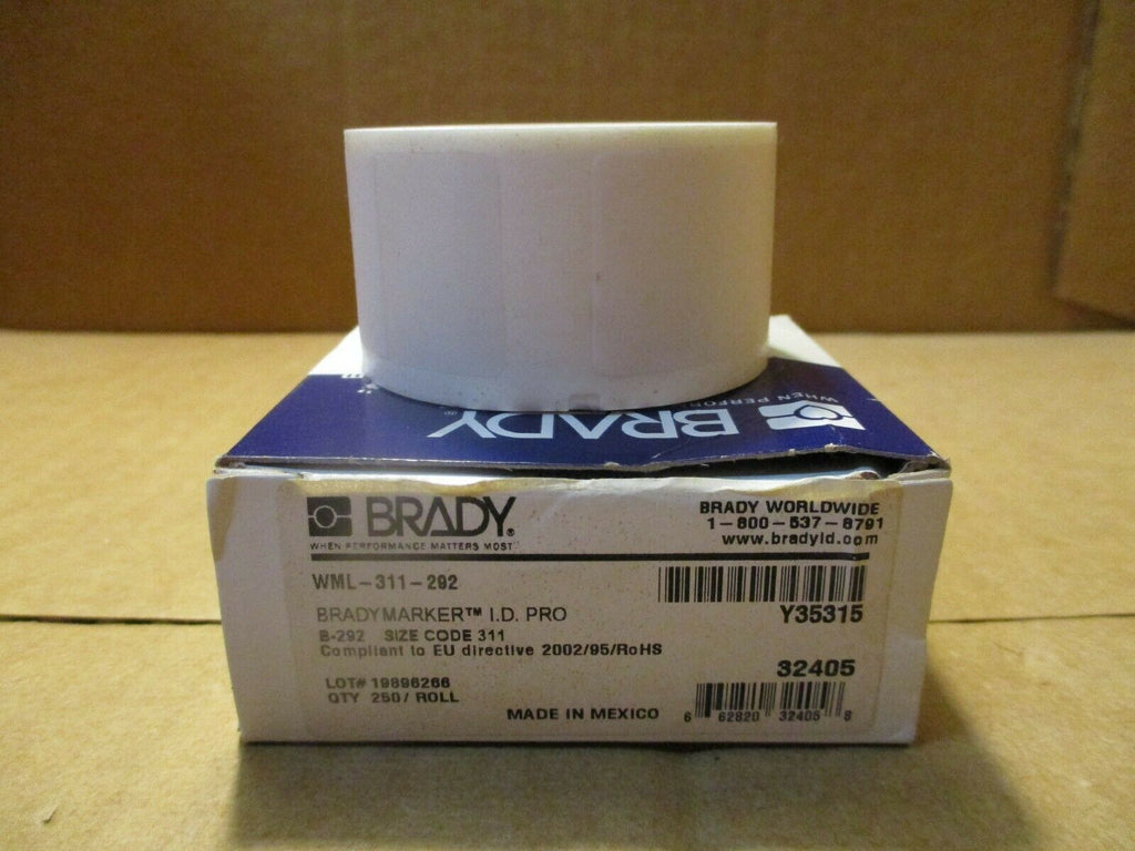 BRADY Bradymarker I.D.PRO Wire Marking Labels WML-311-292 250/ROLL LOT OF 4 NEW