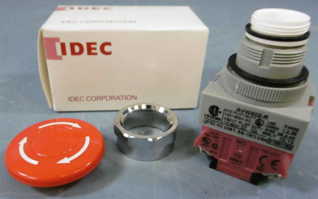 IDEC Red Mushroom Push Button AVW402-R U 100119U