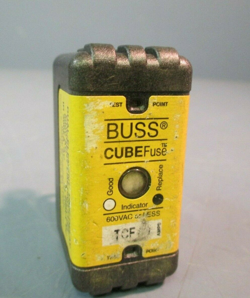 BUSS CUBE FUSE DUAL-ELEMENT TIME DELAY CURRENT LIMITING FUSE 600 VAC TCF40