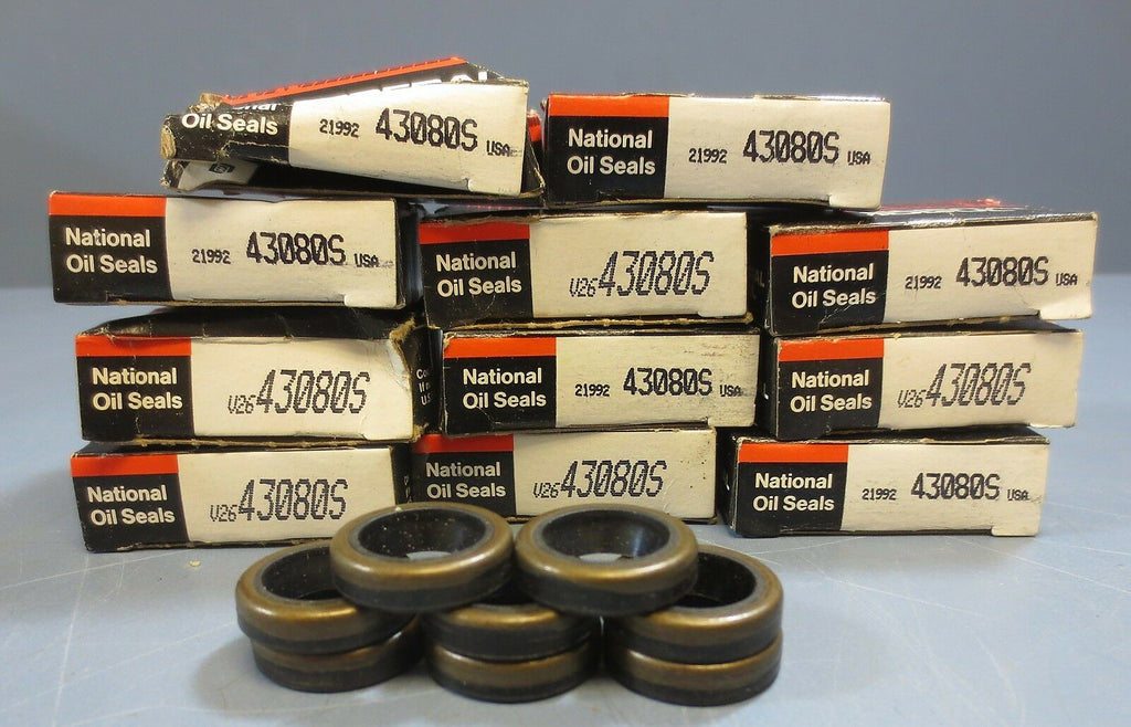 Lot of 19 Federal Mogul National Oil Seals Model 43080S New