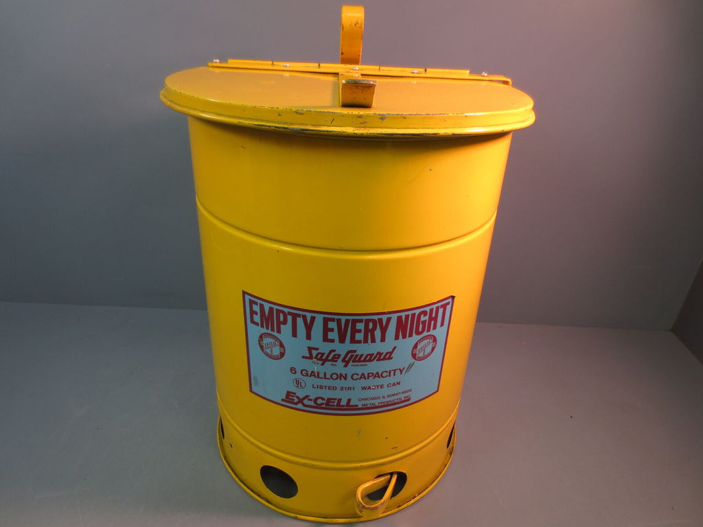 EX-CELL Waste Can 21R1 Safety Waste Can Safe Guard USA Made