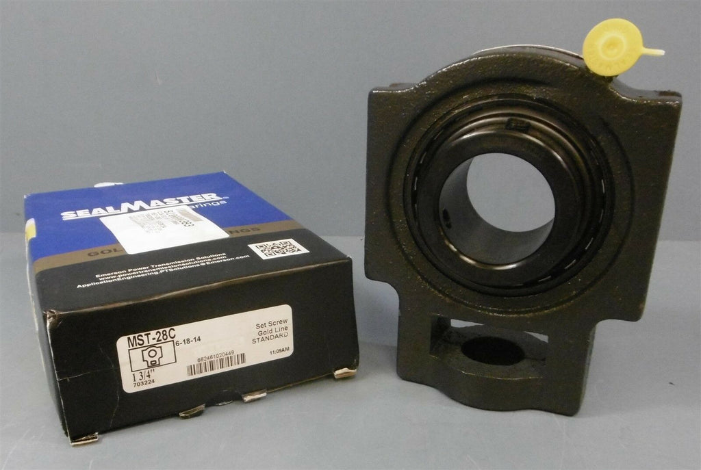 "SealMaster Take-up Bearing: MST-28C, 1-3/4"" Dia Shaft"