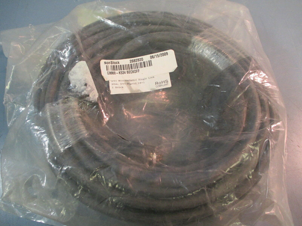 BECKHOFF 20M DVI-DIGITAL DISPLAY CABLE C9900-K534