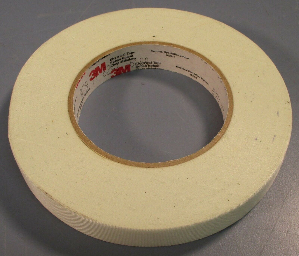"Roll of 3M Glass Cloth Electrical Tape 79, 3/4""x60YD White Acrylic Adhesive New"