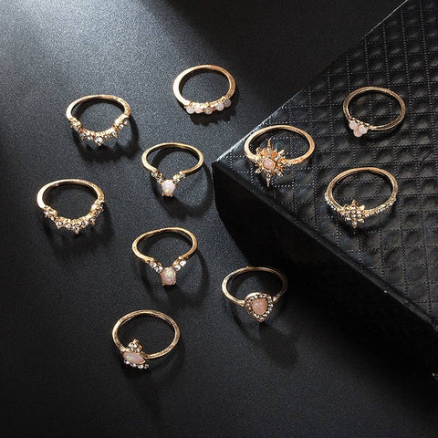 A Little Wrist Glam - Vintage Stacking Ring Set