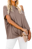 Off-The-Shoulder Slash Neck Casual Loose Fitting Top