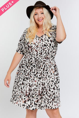 Trendy Collection: Plus Size Animal Print Dress