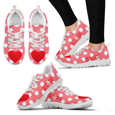 All You Knit Is Love Women's Sneakers White - Jabrichank.com