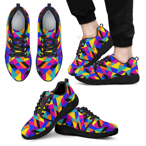 Men's Kaleidoscope Athletic Sneakers Black - Jabrichank.com