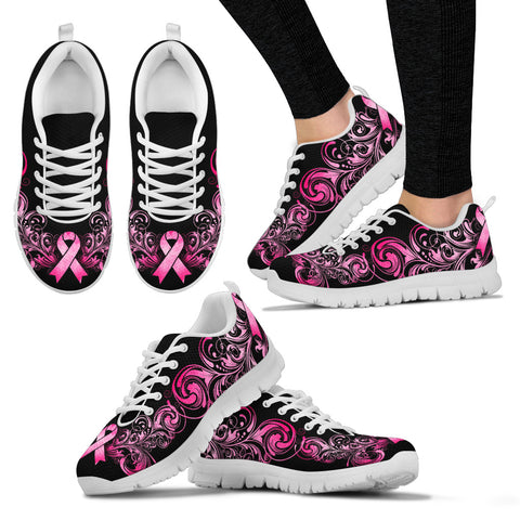 Breast Cancer Awareness Handcrafted Sneakers. - Jabrichank.com