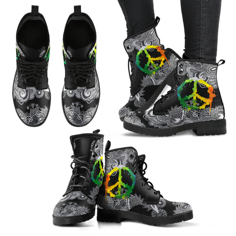 Peace & Flower Handcrafted Boots V2 - Jabrichank.com