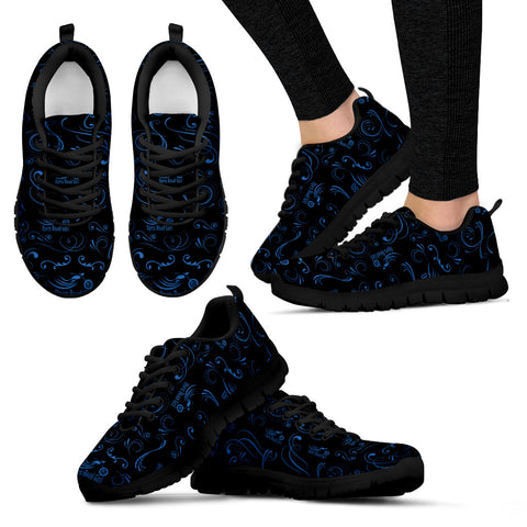 BLUE/BLACK Scatter Open Road Girl Women's Sneakers - Jabrichank.com