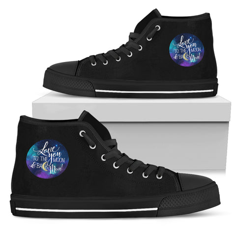 NP Love You To The Moon Women's High Top Shoes - Jabrichank.com