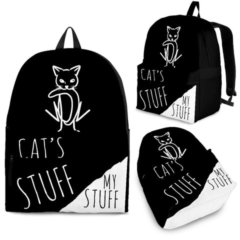 Backpack - Cat's Stuff | My Stuff 2 - Black - Jabrichank.com
