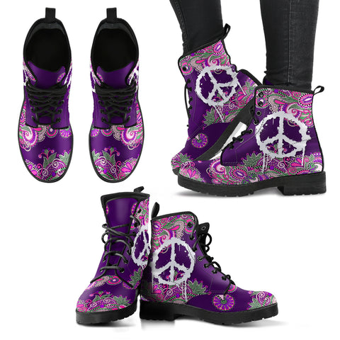 Peace & Flower Handcrafted Boots V1 - Jabrichank.com