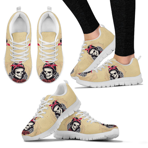 Woman Skull Handcrafted Sneakers - Jabrichank.com