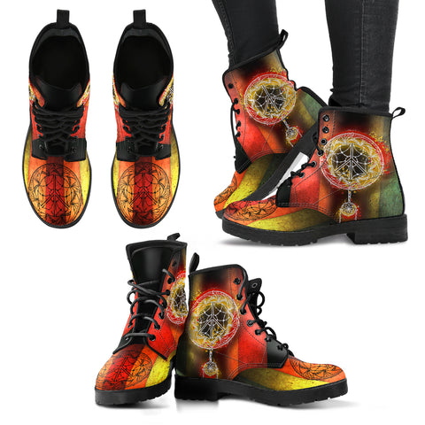 Peace Dream Catcher Handcrafted Boots V4 - Jabrichank.com