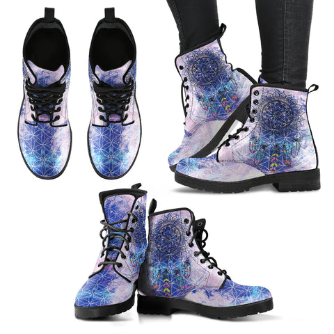 Chakra Dreamcatcher Women's Leather Boots - Jabrichank.com