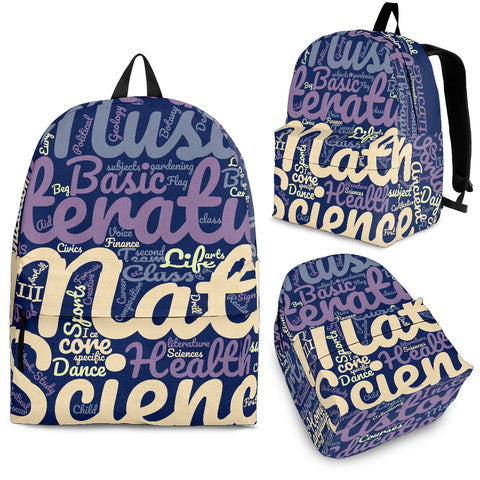 All Subjects Designer Back-to-School Backpack Blue - Jabrichank.com