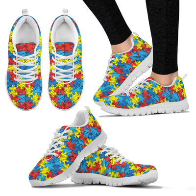 Womens Autism Awareness Puzzle Sneakers. - Jabrichank.com