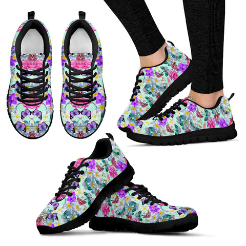 Colorful Lotus Butterfly Sneakers - Jabrichank.com