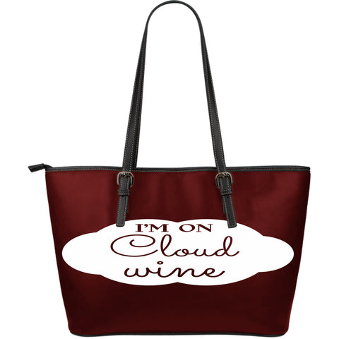 NP Cloud Wine Leather Tote Bag - Jabrichank.com